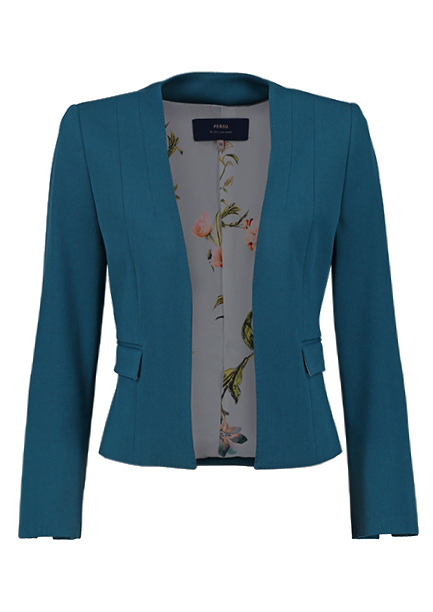 Open cropped blazer
